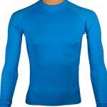 t shirt lycra anti UV adulte manches longues bleu
