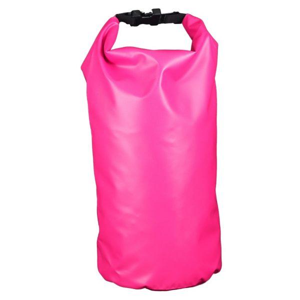 sac étanche rose 10 litre recto